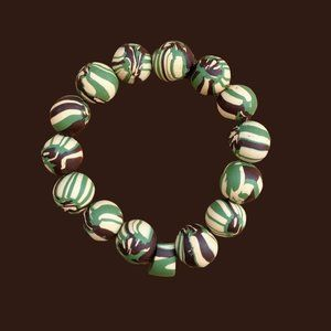 Nature Tie-Dye Hand Sculpted Clay Gelato Beads M/L